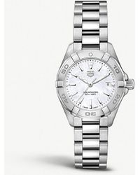 Tag Heuer - Wbd1411.ba0741 Aquaracer Mother-of-pearl And Steel Watch - Lyst