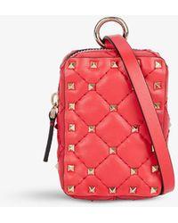 Valentino Garavani - Spike-embellished Pouch Leather Belt Bag - Lyst