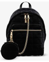 Sandro Jullian Quilted Velvet Backpack - Black