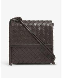 Bottega Veneta Small Bv Fold Intrecciato Leather Cross-body Bag - Multicolor