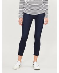 PAIGE Margot Crop Ultra-skinny Ultra-high-rise Jeans - Blue