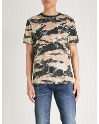 True Religion - Buddha-print Cotton-jersey T-shirt - Lyst