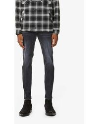 DSquared² Skater Faded-wash Tapered Jeans - Black