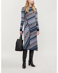 Sportmax - Mammola Fair Isle-knit Wool Dress - Lyst