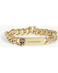 Alexander McQueen Skull Identity Chain Bracelet - Metallic