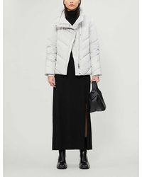 Ted Baker Funnel-neck Quilted Shell Jacket - Grey