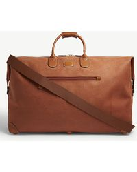 Bric's - Logo Embossed Suede Holdall - Lyst