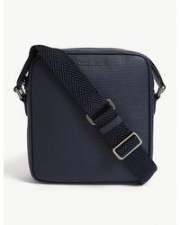 Z Zegna Leather Reporter Bag - Blue