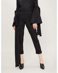 Hellessy - Side-drape Woven Cigarette Trousers - Lyst
