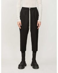 Rick Owens Astaires Tapered Wool-blend Trousers - Black