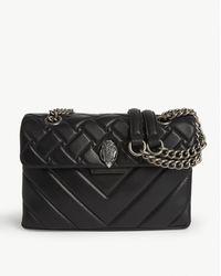 Kurt Geiger Kensington Patent Leather Shoulder Bag - Black