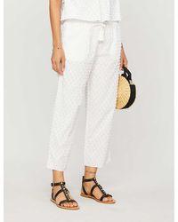 Skin Venetia Cotton Pyjama Bottoms - White
