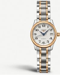 Longines - L2.128.5.79.7 Master Stainless Steel And Rose Gold-toned Watch - Lyst