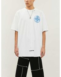 Off-White c/o Virgil Abloh Graphic-print Cotton-jersey T-shirt - White