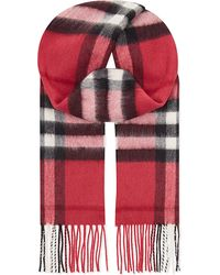 Burberry Explode Check Cashmere Scarf - Pink