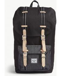 Herschel Supply Co. - . Black Denim Buckle Style Little America Buckled Canvas Backpack - Lyst