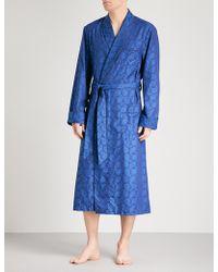 Derek Rose | Paris 013 Paisley-pattern Cotton Dressing Gown | Lyst