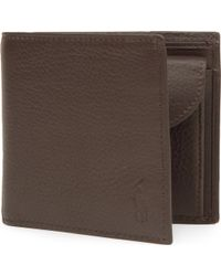 Polo Ralph Lauren - Pebbled Leather Wallet - Lyst
