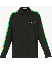 Palm Angels - Miami Logo-embroidered Jersey Tracksuit Shirt - Lyst