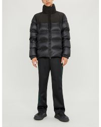 Moncler Holsteiner Padded High-neck Nylon Coat - Black