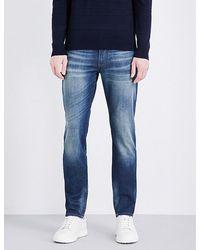 Armani Jeans Slim-fit Straight Jeans - Blue