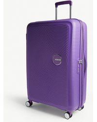 American Tourister Soundbox Expandable Four-wheel Suitcase 77cm - Purple
