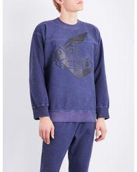 Vivienne Westwood Anglomania - Sword Stretch-cotton Sweatshirt - Lyst