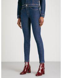 Claudie Pierlot - Skinny Mid-rise Stretch-denim Jeans - Lyst
