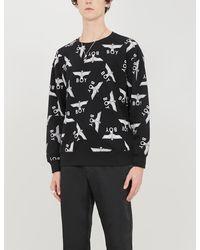 BOY London Logo-print Cotton-jersey Sweatshirt - Black