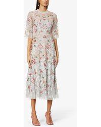 Needle & Thread Harlequin Sequin-embellished Woven Midi Dress - Multicolour