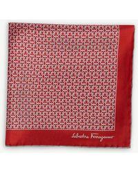 Ferragamo - Interlocking Logo Silk Pocket Square - Lyst