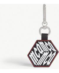McQ - Logo Cube Leather Keyring - Lyst