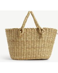 Muuñ Micro Claudia Straw Bag With Pouch - Multicolour