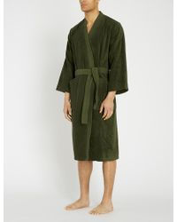 KENZO Kbamboo Cotton Dressing Gown Range - Green