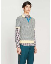 Prada Striped Cotton-knit Polo Shirt - Multicolor
