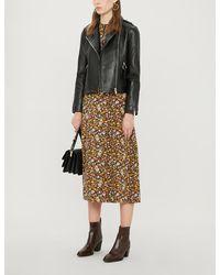 Claudie Pierlot Charmy Leather Jacket - Black