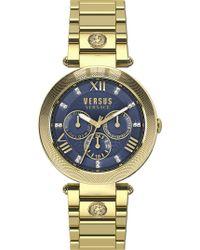 Versus - Sca040016 V-camden Ip Gold Chronograph Watch - Lyst