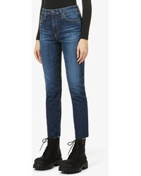 AG Jeans Isabelle Straight-leg High-rise Jeans - Blue