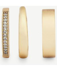 Kendra Scott Tate 14ct Gold-plated Brass Ring Set - Metallic