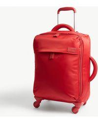 Lipault Originale Plume Four-wheel Cabin Suitcase 55cm - Red