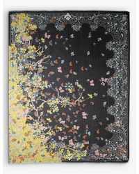 Zadig & Voltaire Fray Blossom Graphic-print Scarf - Black