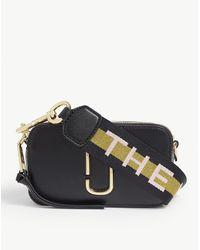 Marc Jacobs Snapshot Leather Cross-body Bag - Black