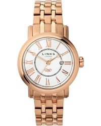 Links of London - Richmond Stainless Steel Rose Gold-plated Watch - Lyst