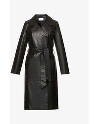 Viktoria & Woods Creed Double-breasted Leather Coat - Black