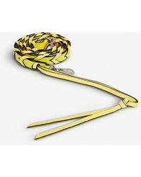 Loewe Braided Thin Leather Strap - Yellow