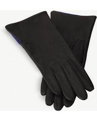 Loewe Leather Gloves - Black