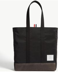 Thom Browne Unstructured Tote Bag - Black
