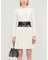 Alaïa Boat-neck Wool-blend Body - White