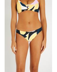 Seafolly - Abstract-print Bikini Bottoms - Lyst