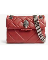 Kurt Geiger Kensington Mini Leather Shoulder Bag - Red